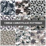 Sömlös uppsättning av kamouflagemodellvektorn Arkivfoton