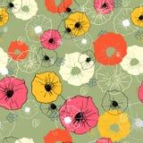 Sömlös utsmyckad dekorativ blom- modell Ljust tryck för din design Fotografering för Bildbyråer