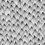 Sömlös våg hand-dragen modell, bakgrund för två färgvågor Fotografering för Bildbyråer