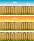 Sömlös vår eller Wood staket för sommar royaltyfri illustrationer