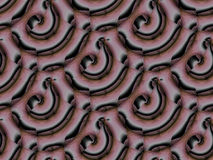 Sömlös vanlig svart för brunt för spiralmodellrosa färger diagonalt Royaltyfria Foton
