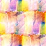 Sömlös vattenfärg för solljuskonstbild stock illustrationer