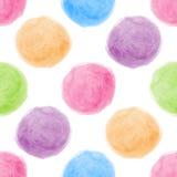 Sömlös vattenfärgprickbakgrund Arkivfoto