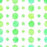 Sömlös vattenfärgprickmodell Fotografering för Bildbyråer