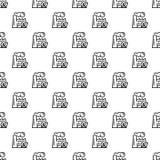 Sömlös vektor för Eco fabriksmodell royaltyfri illustrationer