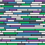 Sömlös vektorbakgrund av den abstrakta färgrika tegelstenväggen Arkivfoto