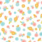 Sömlös vektorbakgrund för blomma Arkivbild