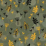 Sömlös vektorbakgrund med skogtema vektor illustrationer