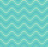 Sömlös vektorbakgrund med vågor av prickar. Arkivfoto