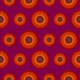 Sömlös vektormodell, abstrakt dekorativ blom- bakgrund Royaltyfria Bilder