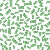 Sömlös vektormodell av att flyga pappers- pengar royaltyfri illustrationer
