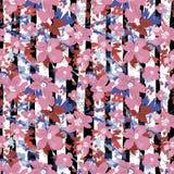 Sömlös vektormodell av eleganta blommor stock illustrationer