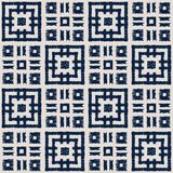 Sömlös vektormodell för abstrakt indigoblå shibori med ikattrycket av mosaiken arkivbild