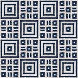 Sömlös vektormodell för abstrakt indigoblå shibori med ikattrycket av mosaiken royaltyfria foton