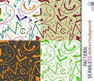 Sömlös vektormodell för bakgrund, omslag som packar Arkivbilder
