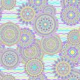 Sömlös vektormodell för Mandala Royaltyfri Foto