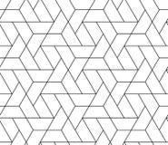 SÖMLÖS VEKTORMODELL FÖR MODERN STYLIST MODERIKTIG GEOMETRISK RASTERMONOKROMBAKGRUND vektor illustrationer