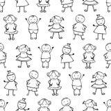 Sömlös vektormodell - folket i barn` s utformar Arkivfoton
