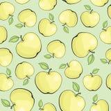 Sömlös vektormodell med äpplen Royaltyfri Foto