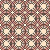 Sömlös vektormodell med abstrakta geometriska cirklar Bakgrund för klänning, tillverkning, tapeter, tryck, gåvasjal och sc Arkivbilder