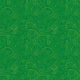 Sömlös vektormodell med abstrakta gröna vinrankor vektor illustrationer
