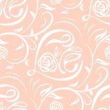 Sömlös vektormodell med bokstäverförälskelse och den blom- prydnaden Texturera för valentindagen, bröllop, ferie vektor illustrationer