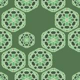 Sömlös vektormodell med den orientaliska geometriska prydnaden vektor illustrationer
