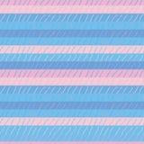 Sömlös vektormodell med enkla texturerade rosa och blåa band stock illustrationer