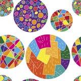 Sömlös vektormodell med färgrika bollar Fotografering för Bildbyråer
