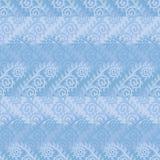 Sömlös vektormodell med frostblommor i blåa färger för aqua vektor illustrationer