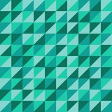 Sömlös vektormodell med gröna trianglar stock illustrationer