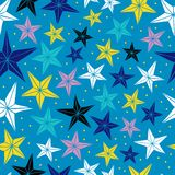 Sömlös vektormodell med stjärnorna. Fotografering för Bildbyråer