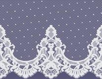Sömlös vektorvit snör åt modellen Royaltyfria Bilder