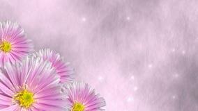 Sömlös violett blom- bakgrundsögla med stjärnor