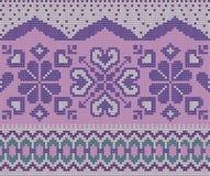 Sömlös violett ganska ö Royaltyfria Bilder
