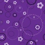 Sömlös violett modell med klotter Royaltyfria Foton