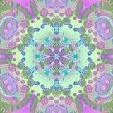 Sömlös violett purpurfärgad blå gräsplan för blom- prydnad Arkivfoto