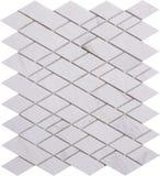 Sömlös vit diamant formad mosaisk modell för marmor Arkivfoton