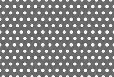 Sömlös vit modellprick på Grey Background royaltyfri illustrationer