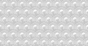 Sömlös vit sexhörningsbakgrund Royaltyfria Foton