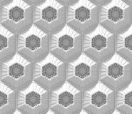 Sömlös vit techbakgrund med den baserade sexhörningen formar Arkivfoto