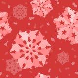 Sömlös Xmas-snöflingabakgrund Arkivfoto