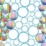 Sömlösa abstrakt begreppbubblor Royaltyfria Foton