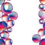 Sömlösa abstrakt begreppbubblor Royaltyfri Foto
