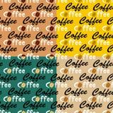 Sömlösa bakgrunder för kaffe Royaltyfria Foton