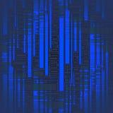Sömlösa band och rektangeln mönstrar mörker - suddig blå grå färg Royaltyfria Bilder