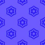 Sömlösa blåa geometriska David Star Background Arkivbild