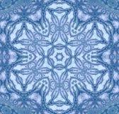 Sömlösa blåa grå färger för blom- prydnad Royaltyfria Foton