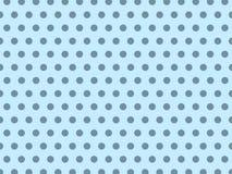 Sömlösa blåa pastellfärgade Dot Background Pattern royaltyfri illustrationer