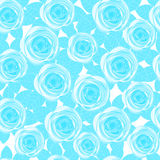 Sömlösa blåa rosor Royaltyfria Bilder